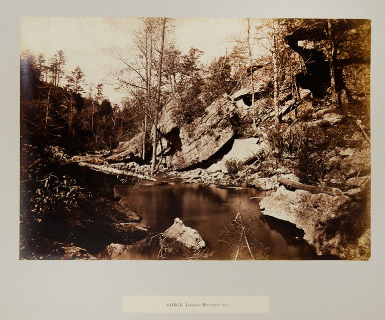 Gorge, Lookout Mountain. George N. BARNARD.