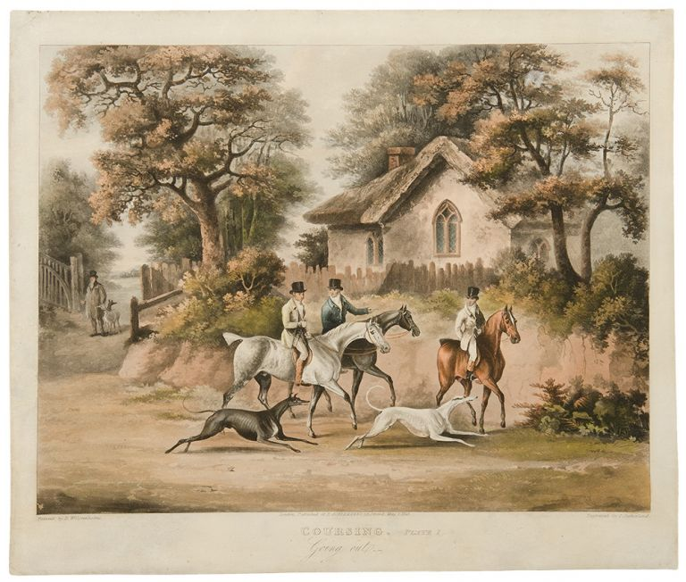 [Set of Four] Coursing. Plate I. Going out.; Plate II. Finding; Plate III. The Hare's Last Effort; Plate IV. The Death. After Dean WOLSTENHOLME, Senior.