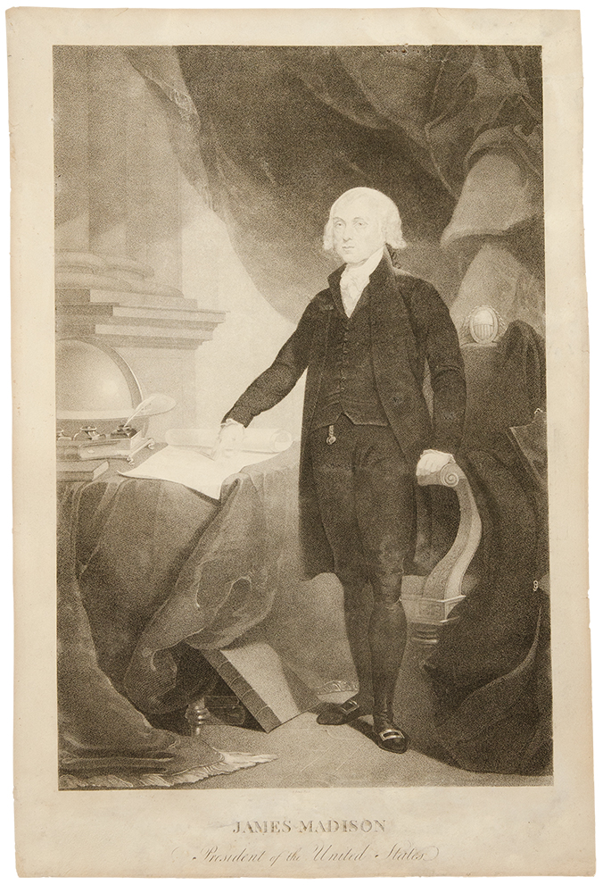 James Madison, President of the United States. David after Thomas SULLY EDWIN.