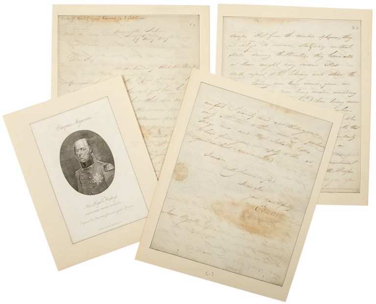 """Letter signed (""""Edward"""") to architect James Wyatt, concerning repairs and alterations at Kensington Palace, including proposed work on the library. Duke of Kent EDWARD Augustus."""