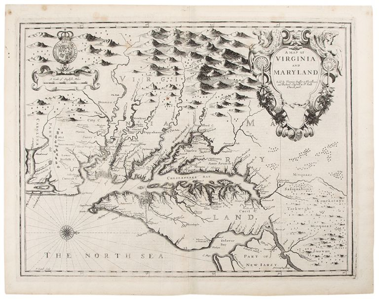 A Map of Virginia and Maryland. John SPEED, c.