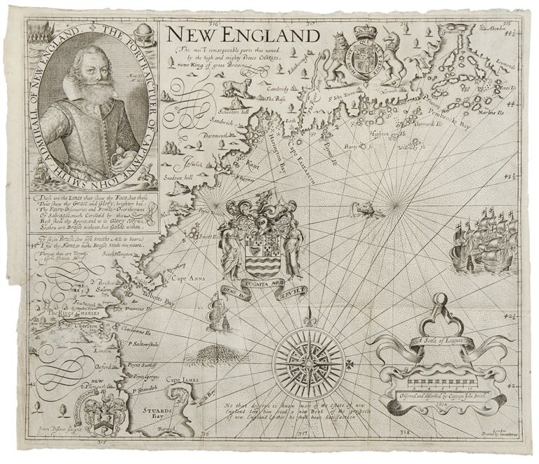New England. The most remarqueable parts thus named. by the high and mighty Prince Charles, nowe King of great Britaine. Captain John SMITH.