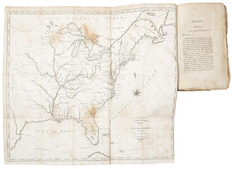 Pennsylvania And Ohio Map.Travels On An Inland Voyage Through The States Of New York