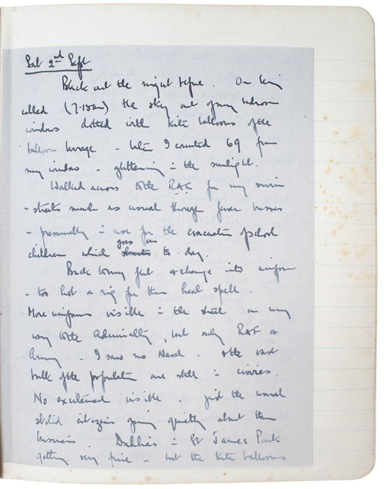 The war-time, daily manuscript diaries of Captain L. H. Bell, the assistant to Admiral Tom Phillips, Vice Chief of the Naval Staff of the Royal Navy. WORLD WAR II - Capt. L. H. Bell.