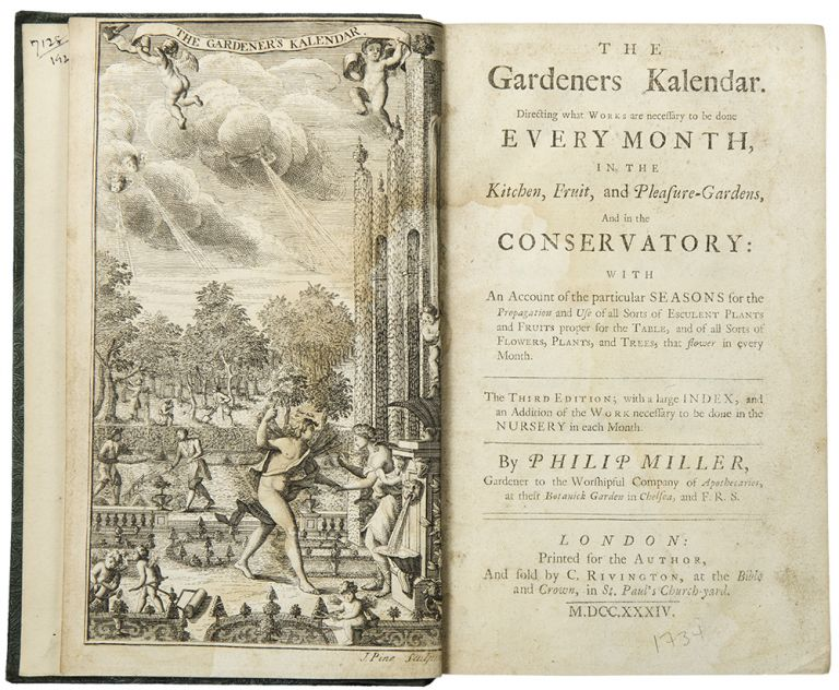 The Gardeners Kalendar, Directing what Works are necessary to be done every month, in the Kitchen, Fruit and Pleasure Gardens, and in the Conservatory ... the Third Edition. Philip MILLER.