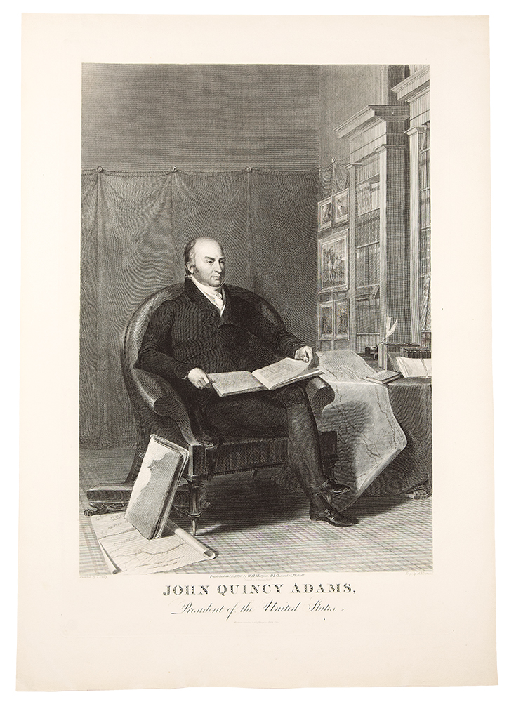 John Quincy Adams, President of the United States. Asher B. DURAND, after Thomas SULLY.