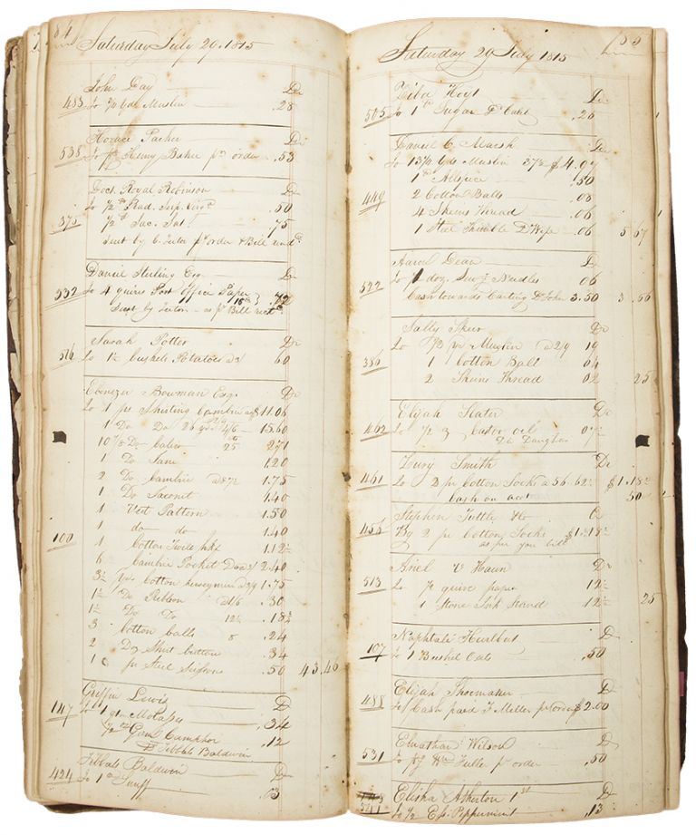 Manuscript accounts ledger relating to a Kingston papermill. PAPERMAKING -, Henry BUCKINGHAM.
