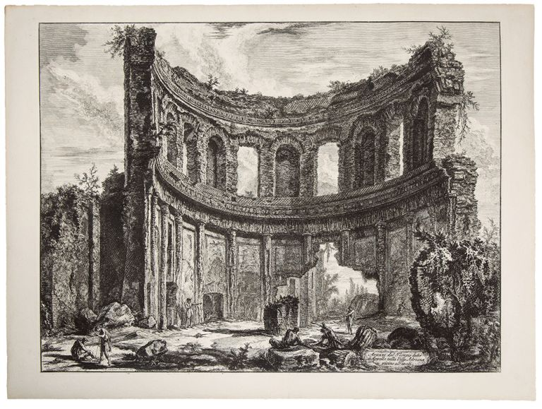 Hadrian's Villa. Remains of the Smaller Palace (Formerly Called the Temple of Apollo). Giovanni Battista PIRANESI.