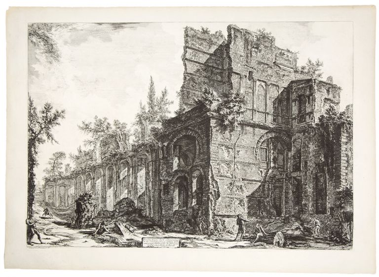 Hadrian's Villa: Remains of the So-Called Pretorio. Giovanni Battista PIRANESI.