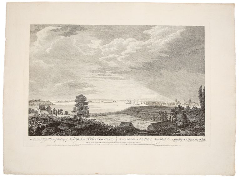 A South East View of the City of New York, in North America ... [With:] A South West View of the City of New York, in North America. after SCENOGRAPHIA AMERICANA - Captain Thomas HOWDELL.