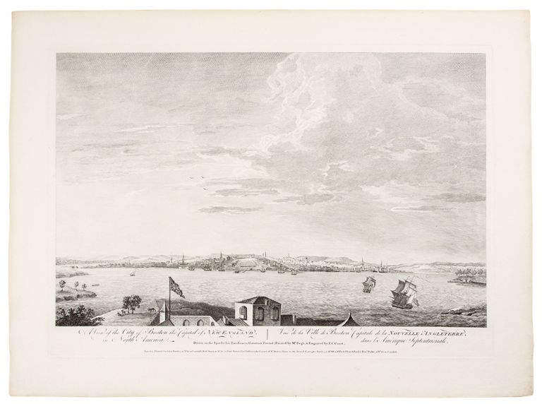 A View of the City of Boston the Capital of New England, in North America ... Drawn on the Spot by his Excellency, Governor Pownal; Painted by Mr. Pugh, & Engraved by P.C. Canot. SCENOGRAPHIA AMERICANA - Thomas POWNALL, after.