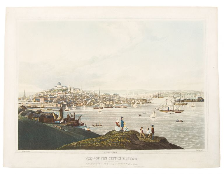 View of the City of Boston from Dorchester Heights. Robert HAVELL.