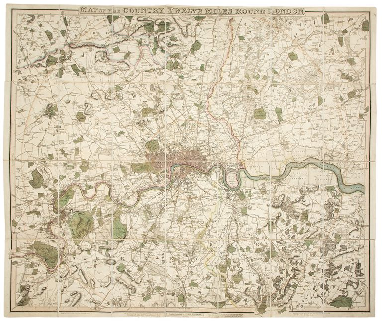 Map of the Country Twelve Miles Round London. W. R. GARDNER.