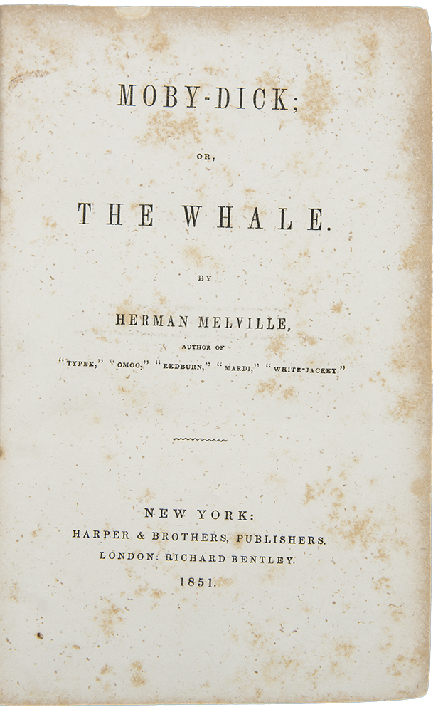 Moby Dick, or, The Whale. Herman MELVILLE.