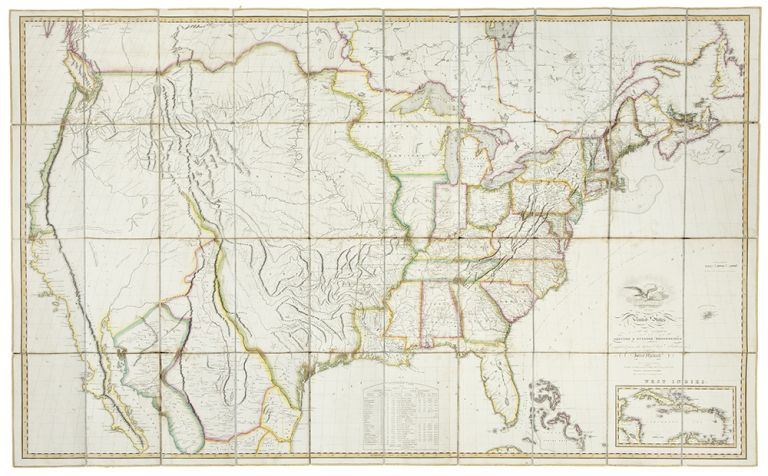 Map of the United States with the contiguous British and Spanish ...