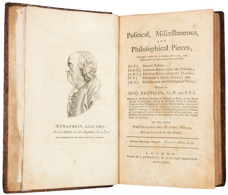 Political, Miscellaneous, and Philosophical Pieces. Benjamin FRANKLIN.