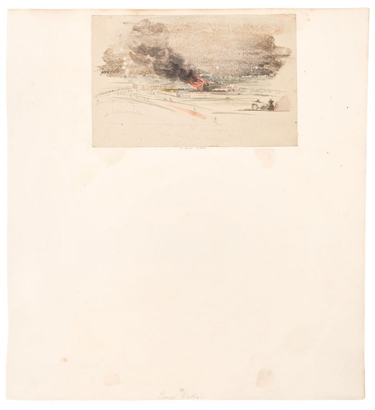 [Brewery fire, Buffalo, New York]. George CATLIN.