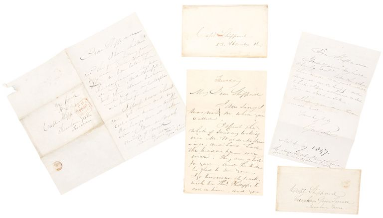 [Archive of three autograph letters signed from George Catlin to Captain William Shippard]. George CATLIN.