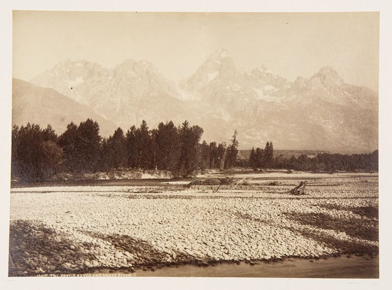 The Teton Range and Snake River. William Henry JACKSON.