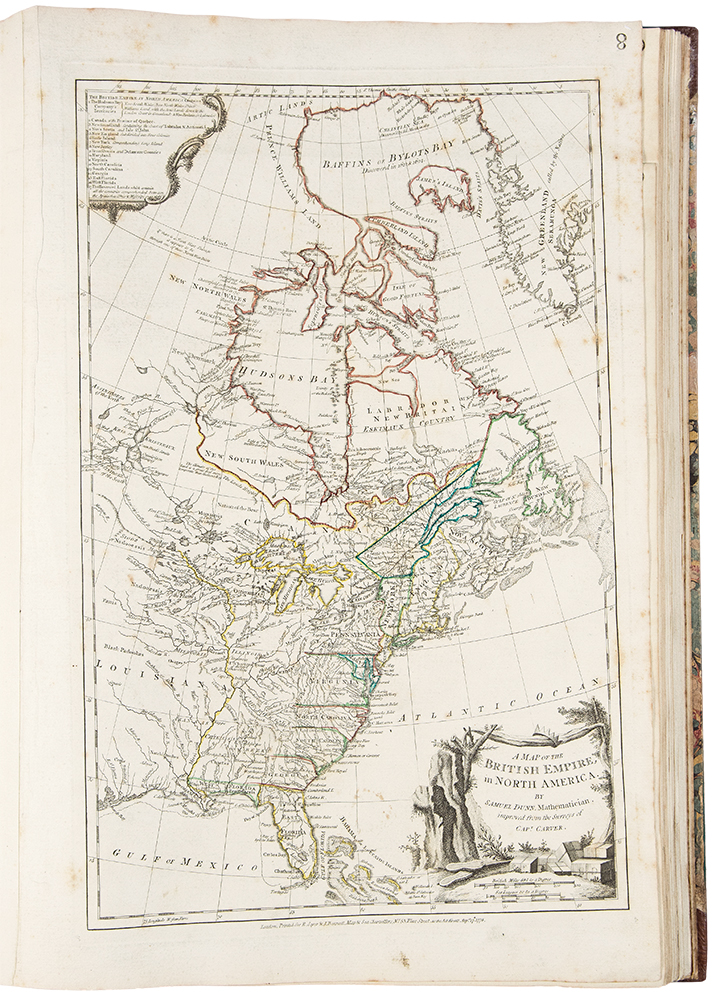 The American Atlas: or, a geographical description of the whole continent of America: wherein are delineated at large its several regions, countries, states, and islands; and chiefly the British Colonies. Thomas JEFFERYS.