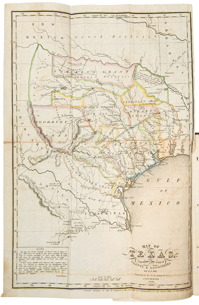 The History of Texas; or, The Emigrant's, Farmer's, and Politician's Guide to the Character, Climate, Soil and Productions of that Country. David B. EDWARD.