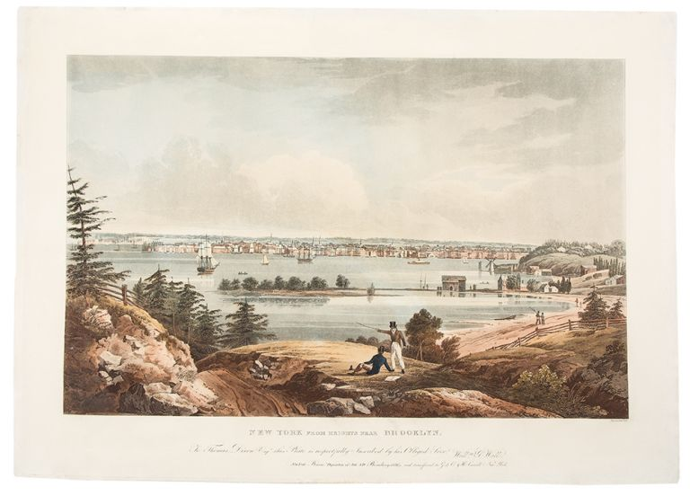 New York From The Heights Near Brooklyn. John HILL, after William Guy WALL, 1792-after 1864.