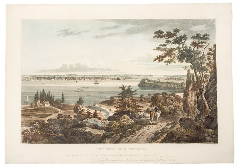 New York From Weehawk. John HILL, after William Guy WALL, 1792-after 1864.
