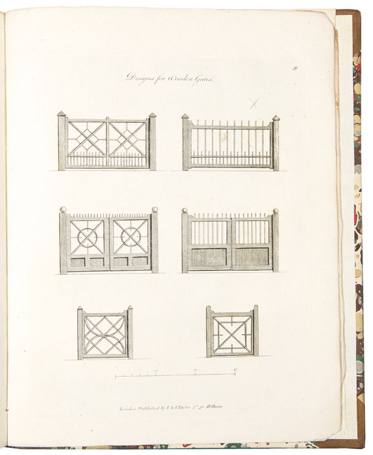 The Country Gentleman's Architect, in a Great Variety of New Designs; for cottages, farm-houses, country-houses, villas, lodges for park or garden entrances, and ornamental wooden gates; with plans of the offices belonging each design, distributed with a strict attention to convenience, elegance, and economy. John MILLER.