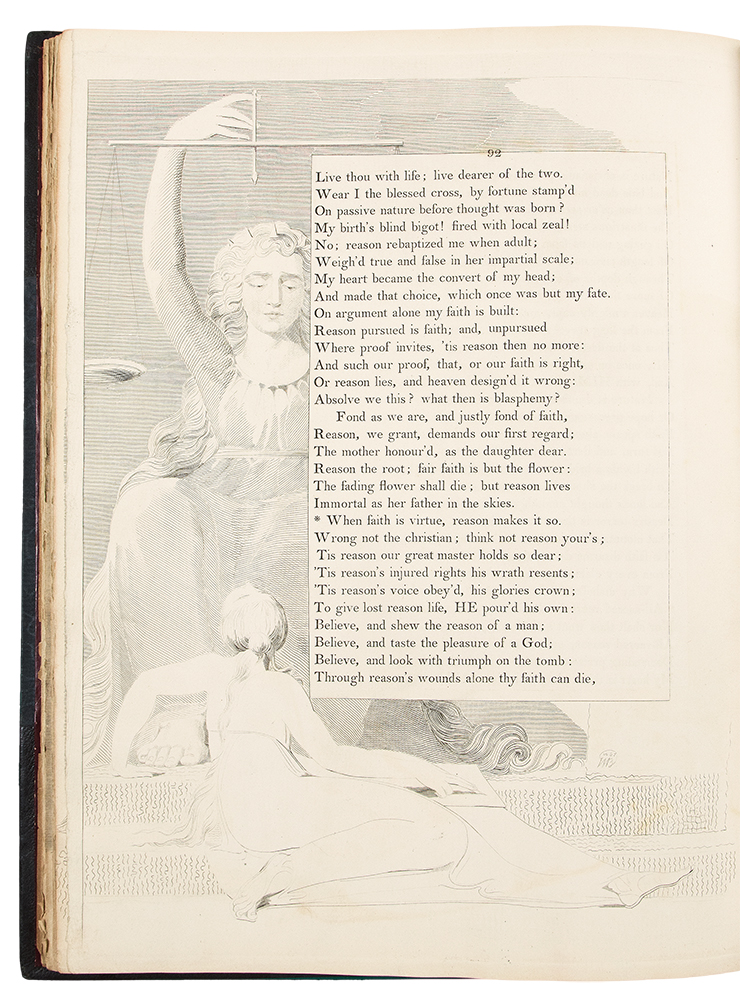 The Complaint, and the Consolation; or, Night Thoughts. William BLAKE, -- Edward YOUNG.