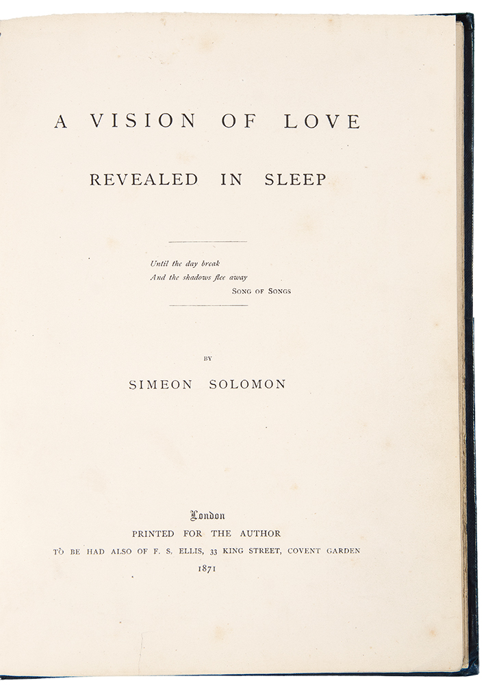 A Vision of Love Revealed in Sleep. Simeon SOLOMON.