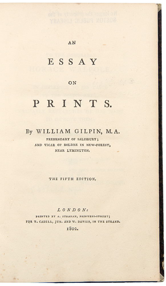 An Essay on Prints. William GILPIN.