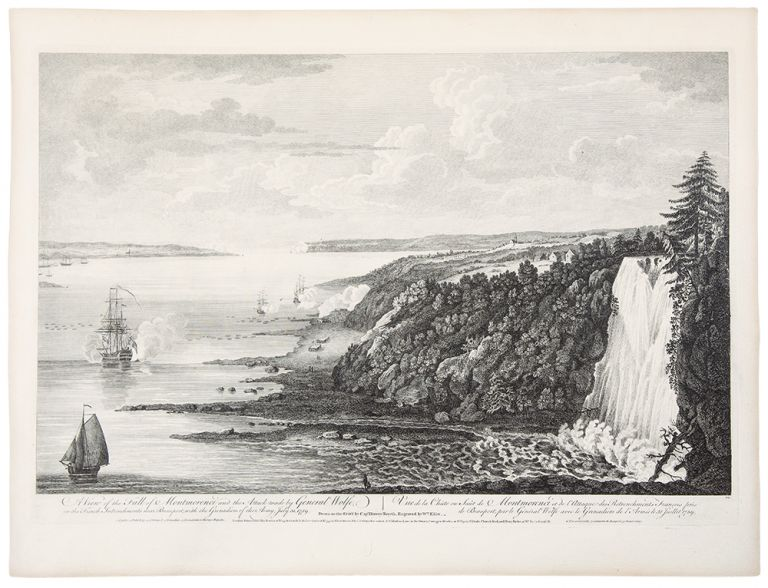 A View of the Fall of Montmorenci, and the attack made by General Wolfe, on the French Intrenchments near Beauport, with the Grenadiers of the Army, July 31 1759 ... Drawn on the spot by Capt. Hervey Smyth. Engraved by William Elliot. SCENOGRAPHIA AMERICANA - Captain Hervey SMYTH, after, d. 1811.