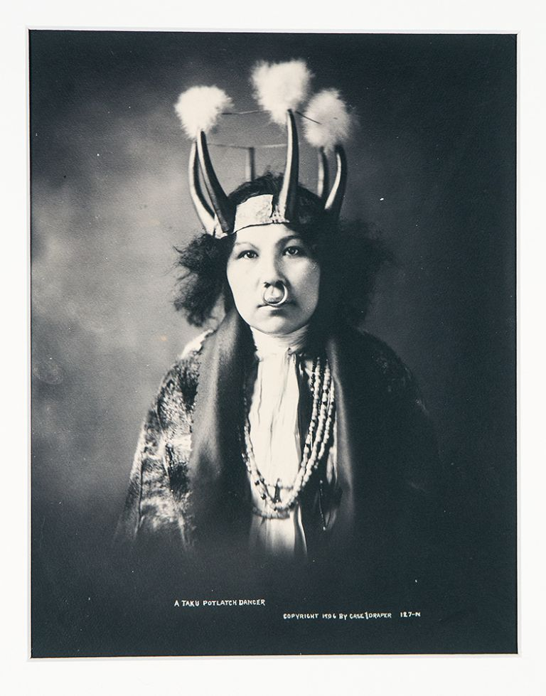 [Group of 10 photographs of natives, art and landscape of the Alaska panhandle]. CASE, photographers DRAPER.