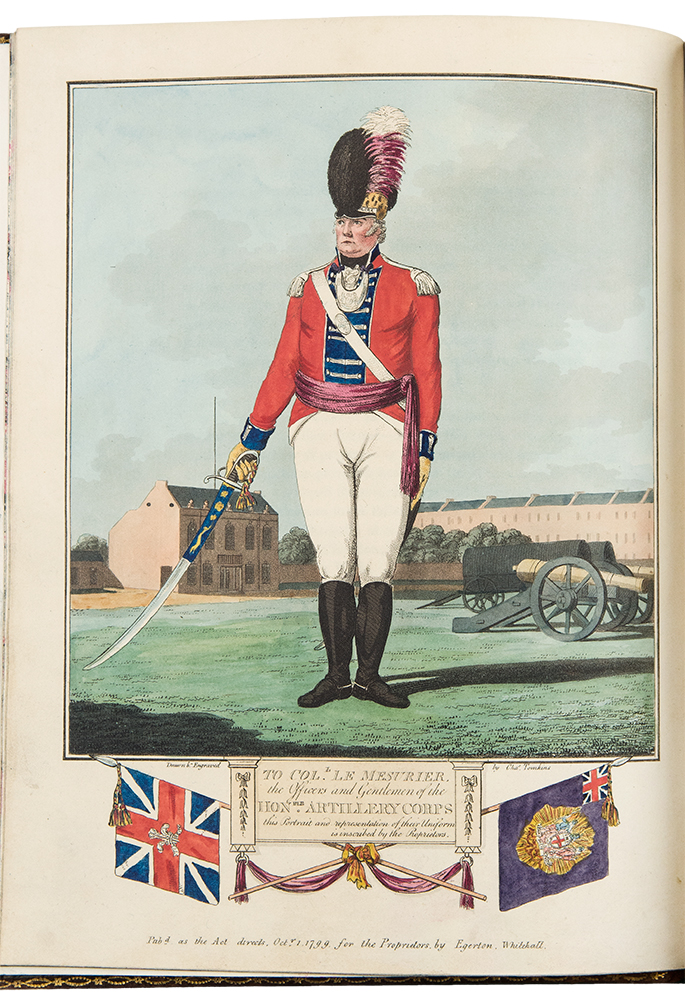 The British Volunteer: or, A General History of the Formation and Establishment of the Volunteer and Associated Corps, enrolled for the Protection and Defence of Great Britain. Charles TOMKINS, c.1750-c.1810.