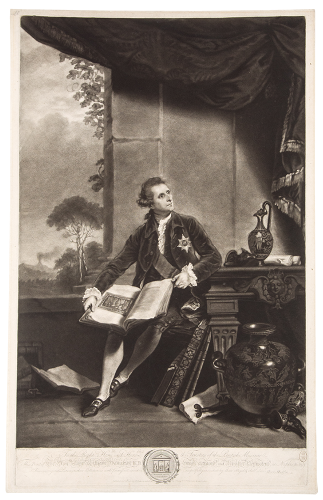 The Honble Sir William Hamilton KB. Sir Joshua after REYNOLDS, H. Hudson.