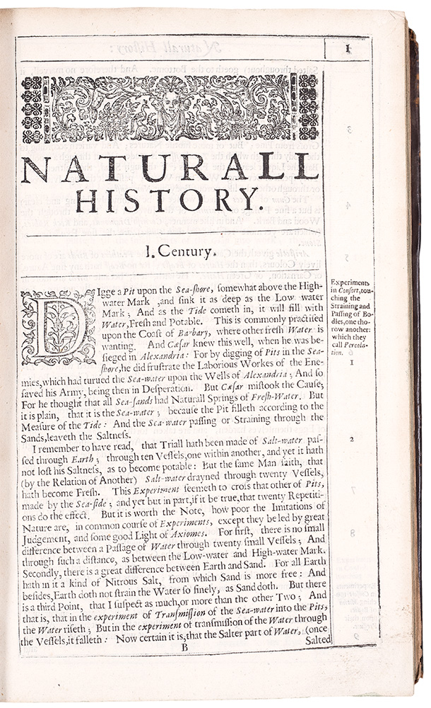 Sylva sylvarum: or, A natural history. In ten centuries. Whereunto is newly added the history naturall and experimentall of life and death, or of the prolongation of life. Both written by the right honourable Francis Lo. Verulam Viscount St. Alban. Published after the authors death, by William Ravvley ... The Seventh Edition. Francis BACON.