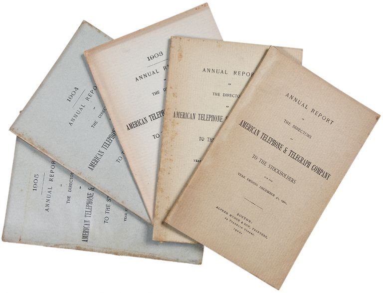 [Group of Annual Reports from AT&T for the years 1901-1905]. AMERICAN TELEPHONE, TELEGRAPH COMPANY.