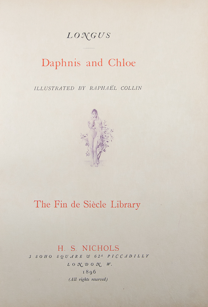 Daphnis and Chloe ... With a preface by Jules Claretie. LONGUS, CHAMPOLLION.