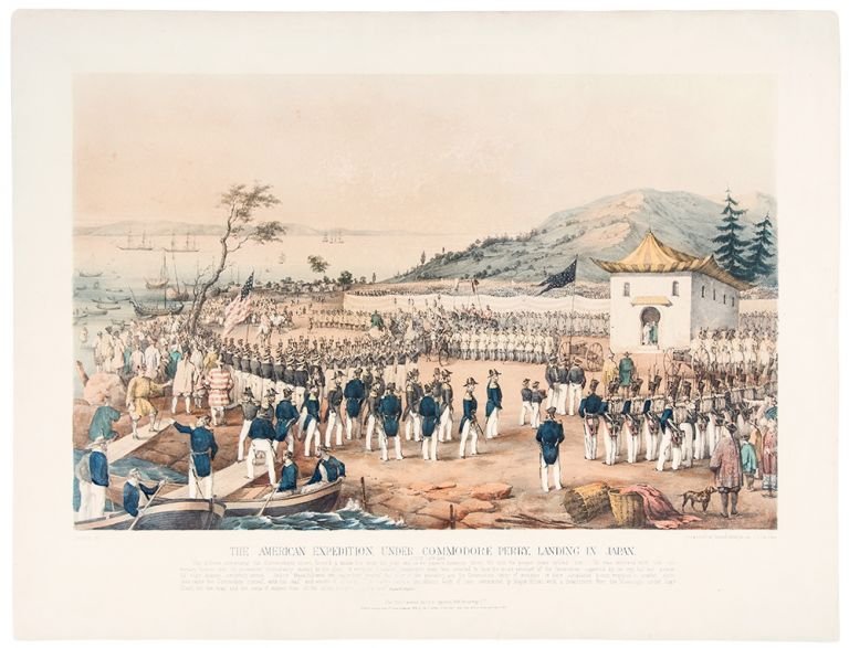 The American Expedition, under Commodore Perry, Landing in Japan July 14th, 1853. Charles SEVERYN.