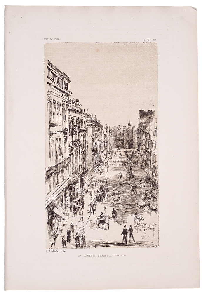 St. James's Street - June 1878. James McNiell WHISTLER.