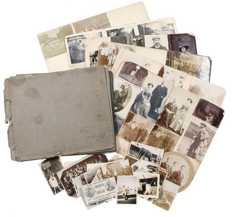 [Disbound albums of photographs relating mostly to members of the Cooke family, depicting circus performances around the world, as well as portraits and other travel photographs]. CIRCUS - Cooke Family.