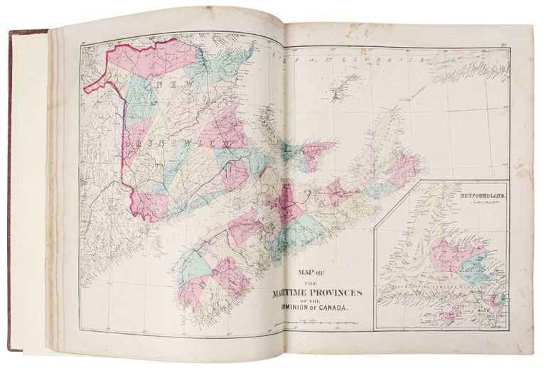 Atlas of the Maritime Provinces of the Dominion of Canada, with Historical and Geographical Descriptions. Frederick B. ROE.