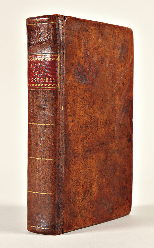 [Bound Volume of Early Tennessee Laws, Encompassing Both Territorial and Early State Imprints, and the First State Constitution]. TENNESSEE LAWS, CONSTITUTION.
