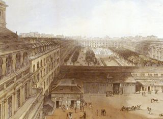 View of the Palais Royal, drawn in Octr. 1827