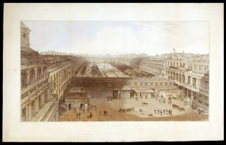 View of the Palais Royal, drawn in Octr. 1827. William DANIELL
