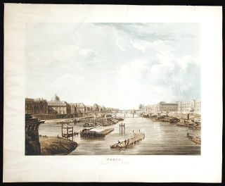 Paris, taken from the Pont-Neuf. Augustus Charles PUGIN