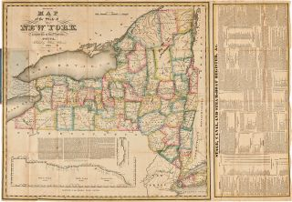 The Tourist's Map of the State of New York Compiled from the Latest Authorities. William WILLIAMS