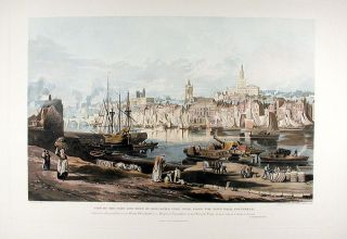 View of the Port and Town of Newcastle Upon Tyne, from the Rope Walk, Gateshead. Thomas Miles...