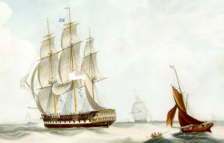 H.C.S. Macqueen off the Start, 26th. January 1832