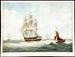 H.C.S. Macqueen off the Start, 26th. January 1832. After William John HUGGINS